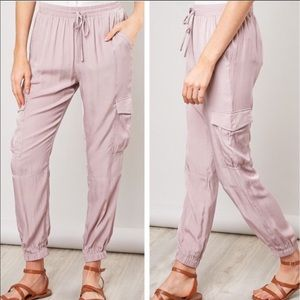 Pants - Satin Utility Joggers 🎉Host Pick FIRM PRICE